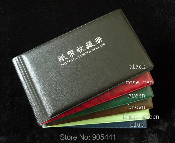 120pockets 20Pages New Paper Money Album Holders Banknotes blue book Collections
