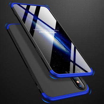 3 In 1 Full Body Protective Armor Case + Tempered Glass Screen Protector Anit Shock Hard Cover For iPhone 7 8 Plus X XR XS Max