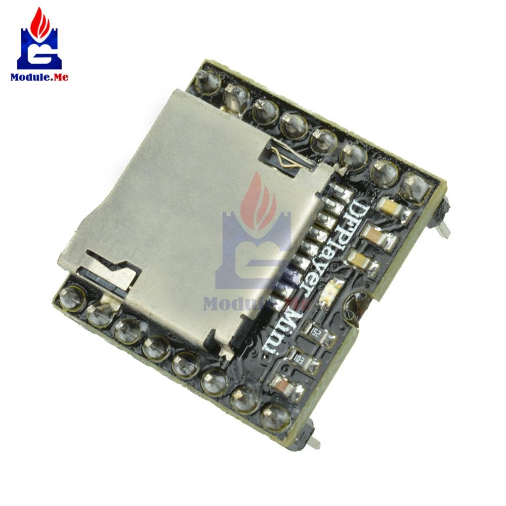 DFPlayer Mini MP3 Player Module MP3 Voice Decode Board For Arduino Supporting TF Card U-Disk IO/Serial Port/AD