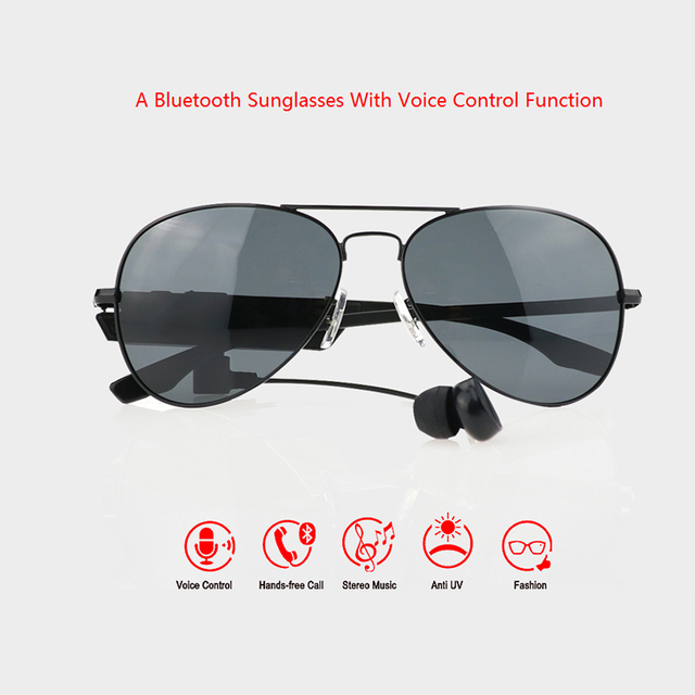 Smart Glasses Bluetooth Screen With Voice Control Function Music Android Support RIOD AND PHONE Smart Glasses Sport K3-A
