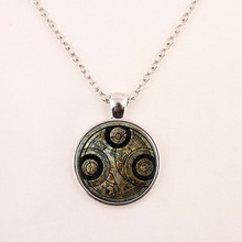 2015 New Fashion Star Trek Necklace Star Trek Pendant Science Medical or Operations pendent Glass Dome Necklace