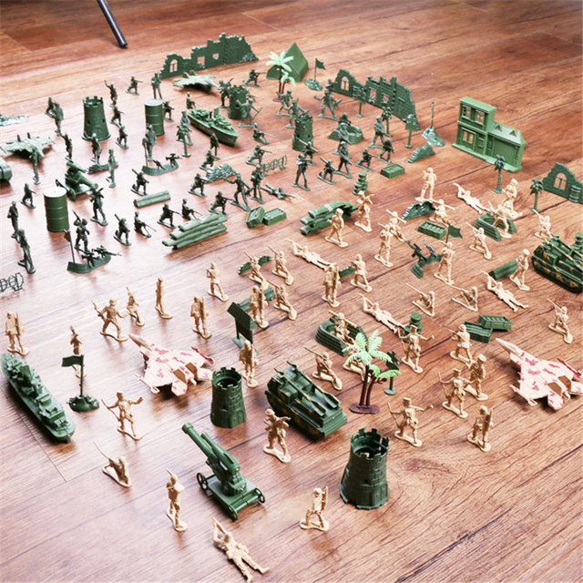0316283cfd6 Soldier Model sandbox game Military Plastic Toy Soldier Army Men Figures    Accessories Playset Kit Gift
