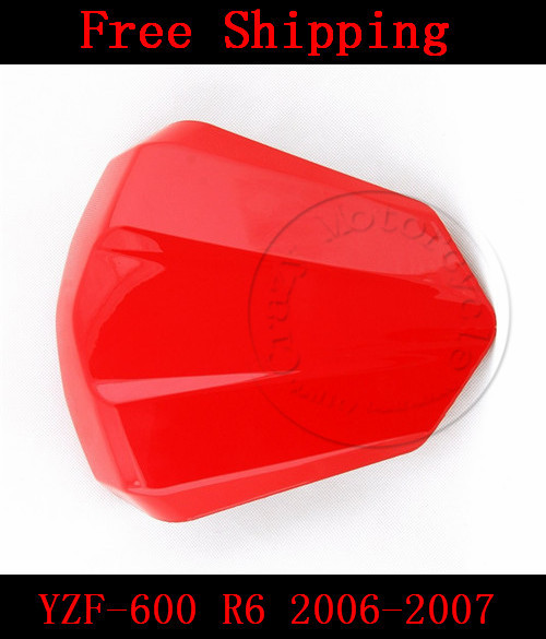For Yamaha YZF 600 R6 2006-2007 motorbike seat cover High quality Motorcycle Red fairing rear sear cowl cover for yamaha yzf 600 r6 2006 2007 motorbike seat cover high quality motorcycle black fairing rear sear cowl cover