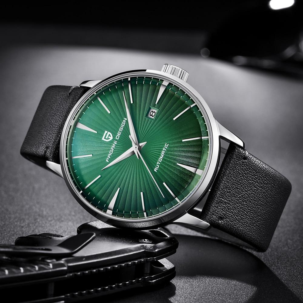 PAGANI Дизайн Лидирующий бренд для мужчин часы Роскошные автоматические механические нержавеющая сталь простой стиль для мужчин часы...
