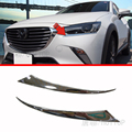 HOTTOP Chrome Head Light Eyelid For Mazda CX3 2016 2017 CX-3 Molding Accessories Headlight Cover