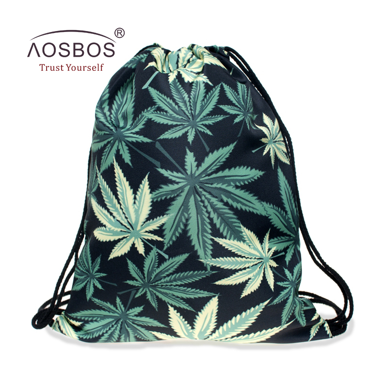 Aosbos Drawstring Shoes Bag Gym Bag untuk Wanita Latihan Athletic Bag Outdoor Basketball Hiking Sukan Bags Drawstring Backpack