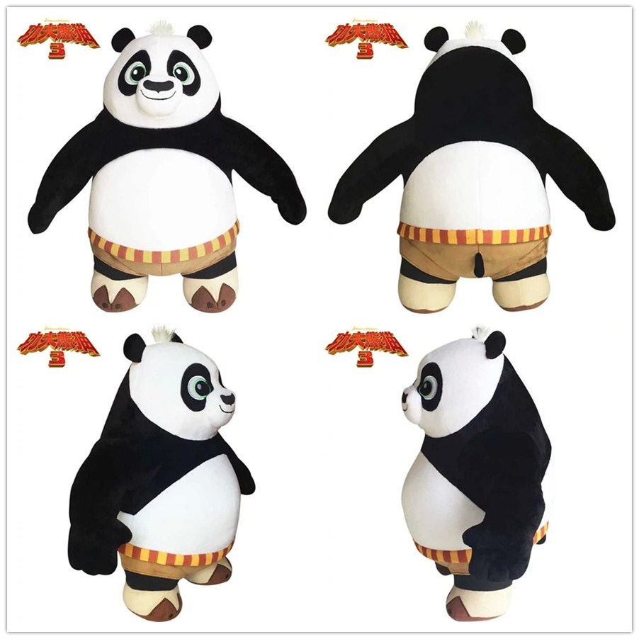New Hot 35cm Cartoon Kung Fu Kungfu Panda 3 Stuffed Animal Toy Panda Plush Toy Soft Doll For Kid Birthday Gift 1pc купить