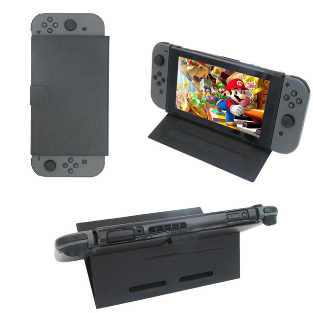 Nintend Switch Slim PU Leather Flip Play Stand Cover Case for Nintendos Switch Protective Shell Foldable bracket NS Accessories
