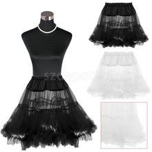 Vintage de la Red Rock enagua Tutu falda negro/blanco