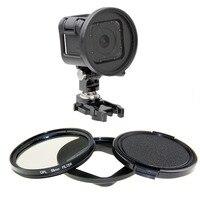 58mm CPL Filtro de Protección Con Tapa de Lente Para GoPro Hero 4 Cámara de Acción de Sesiones