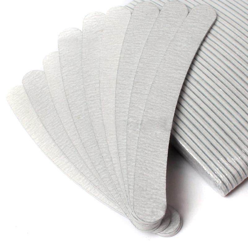 10 Pcs Grey Nail File Sanding 100/180 Curve Banana Nail File For ...