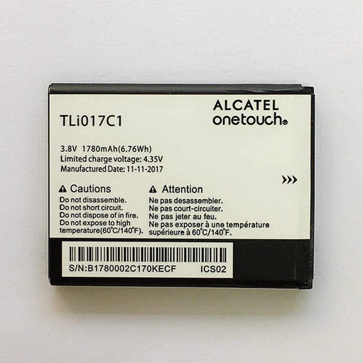Cuusey Original Tli017c1 Battery For Alcatel One Touch