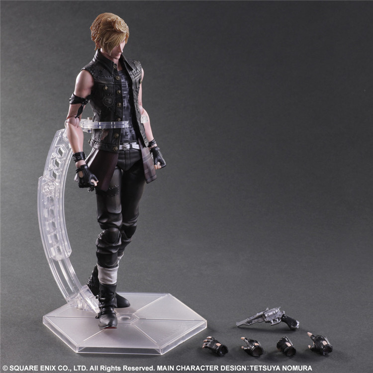 Elsadou Play Arts PA Final Fantasy Prompto Argentum Action Figure Toy Doll 25cm free shipping 10 pa kai final fantasy 15 prompto argentum boxed 25cm pvc action figure collection model doll toy gift