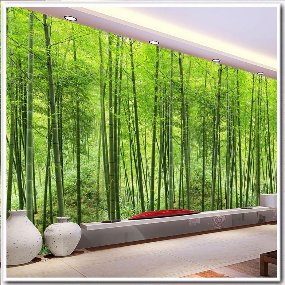 Papier Peint Petit Salon personnalisé 3d murale papier peint vert naturel paysage