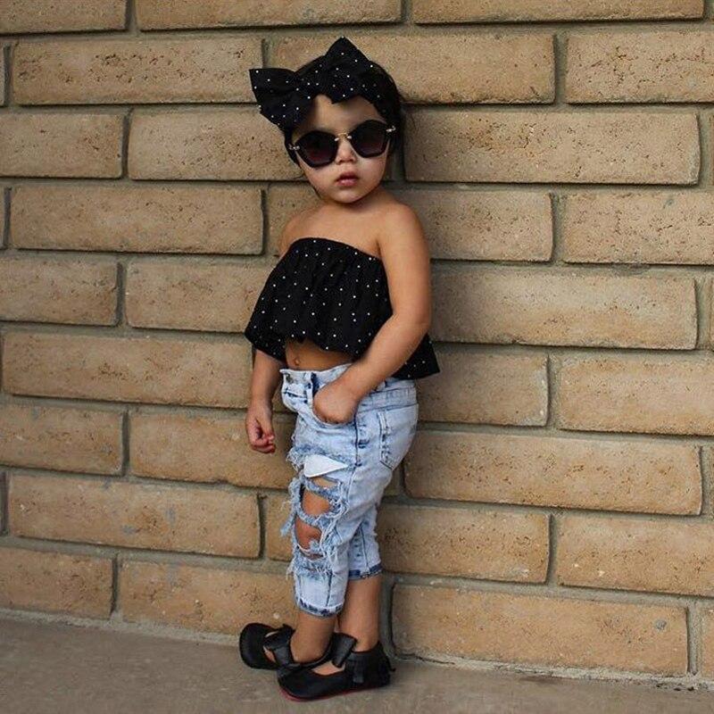 Sınıq Çuxur Şalvar Baby Boys Qızlar Cins geyimlər Moda Qış - Uşaq geyimləri - Fotoqrafiya 1