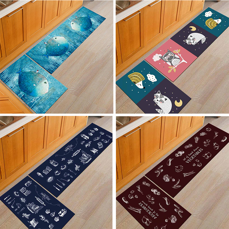 Washable Kitchen Mats with Anti Slip Bottom for Kitchen and Hallway Entrance Floor 3