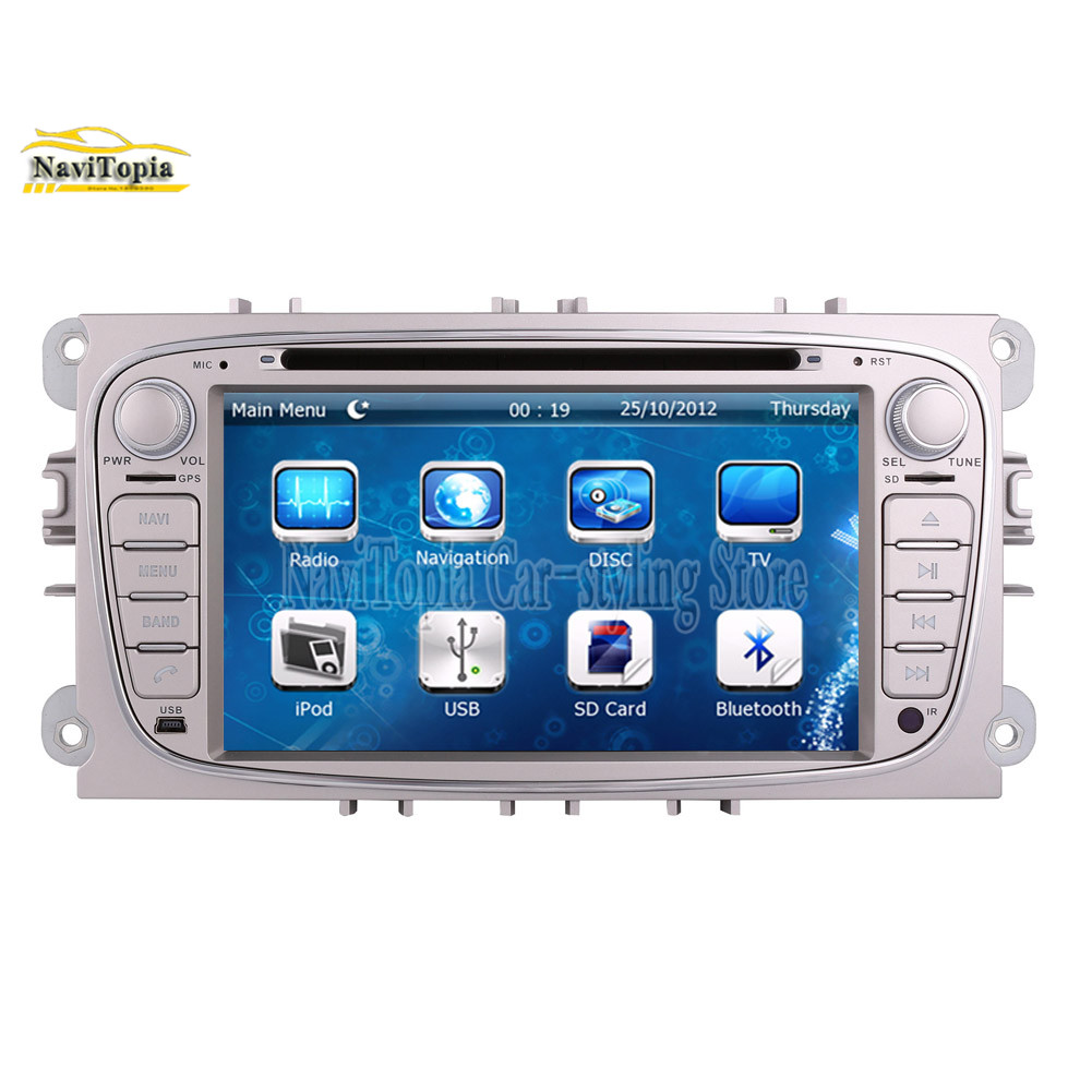 NAVITOPIA GPS Navigation Car DVD Multimedia Player For Ford Focus ...