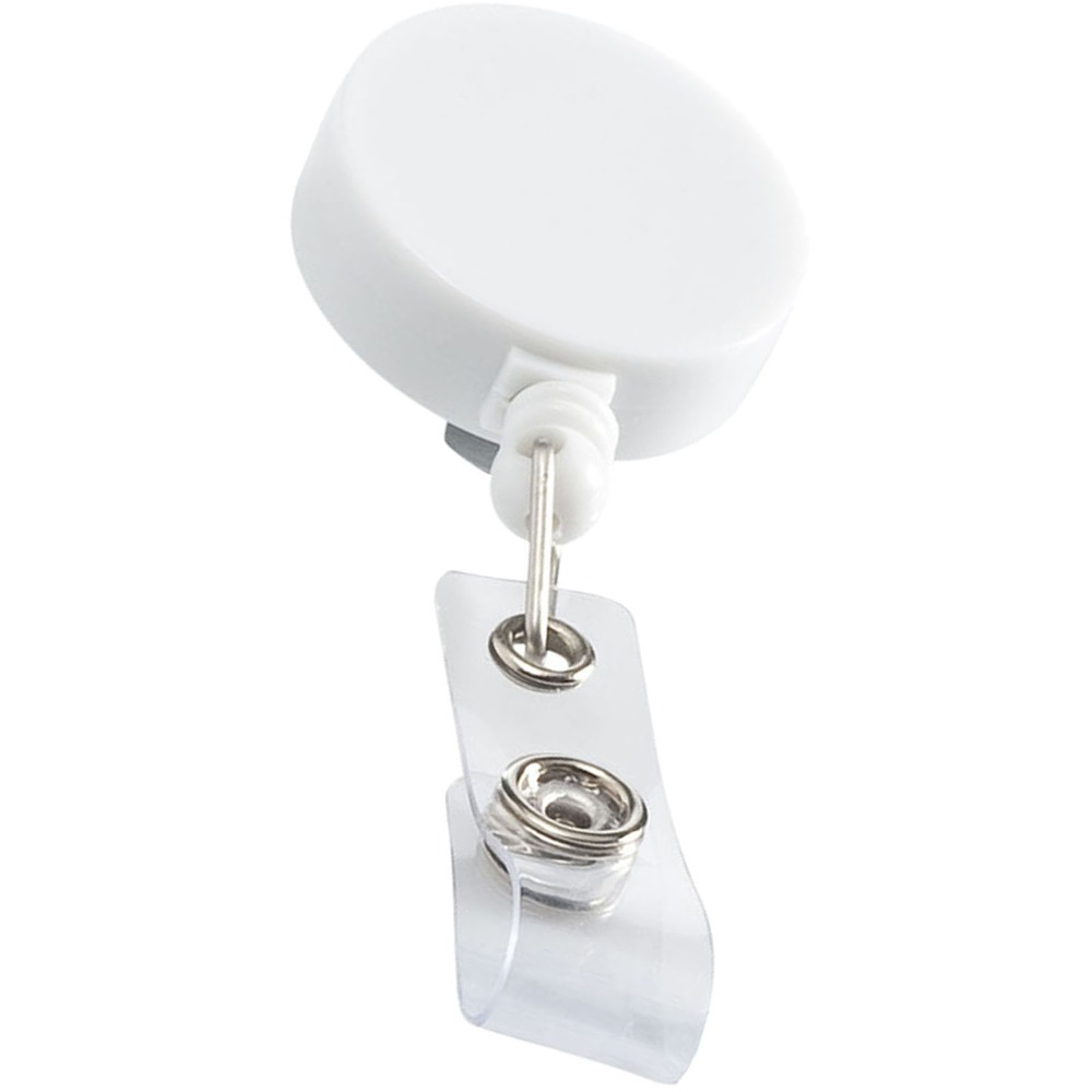 Retracting White ID Badge Holder Roller Clip, Back Belt Clip,extend Nylon Cord,hospital Nurse,office Employee,trade Show Favor