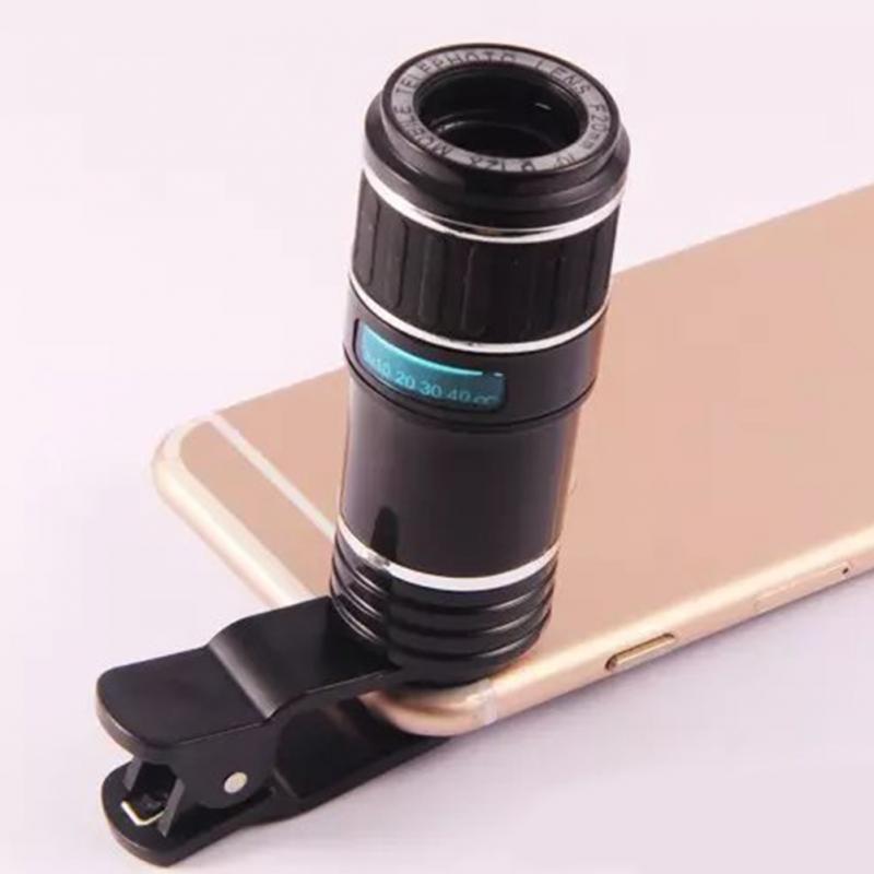 12X Zoom Optical Clip Mobile Phone Telescope Camera Lens