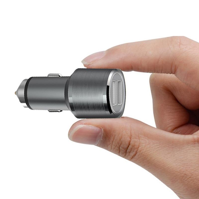 IPhone 8 X üçün DCAE Cüt USB Metal Avtomobil - Cib telefonu aksesuarları və hissələri - Fotoqrafiya 3