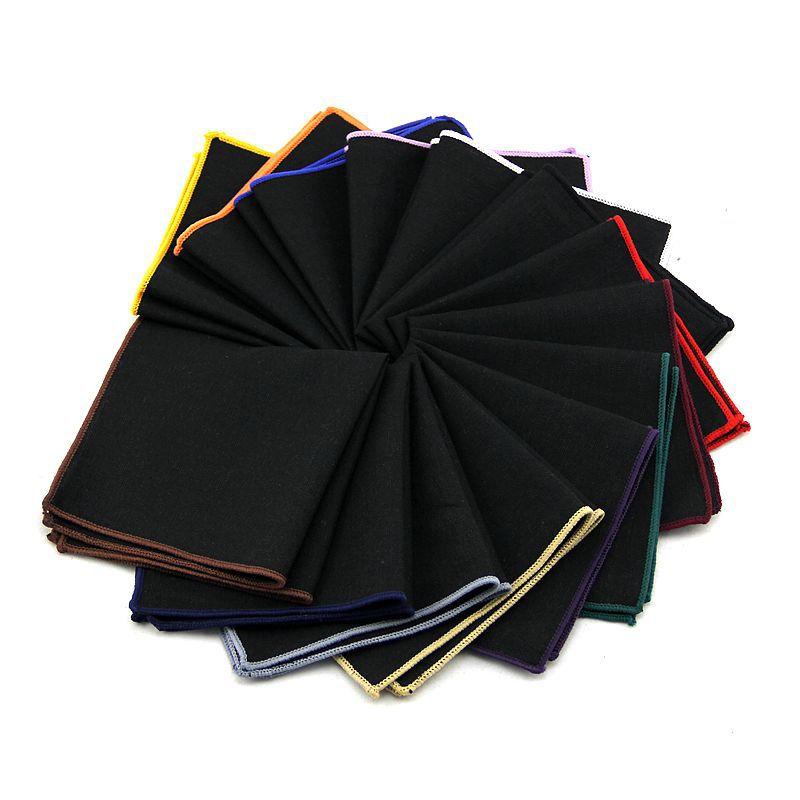 High Quality Fashion 90% Linen Hankerchief For Men Scarves Vintage Hankies Men's Pocket Square Suit Handkerchiefs Solid 23*23cm
