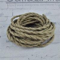 2x0.75 Vintage corde Fil Câble Torsadé Rétro Tressé Fil Électrique BRICOLAGE pendentif lampe fil chanvre corde vintage lampe cordon
