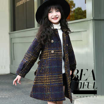 Winter Jackets For Girls Plaid Thick Woolen Coats For Girls Autumn Child Girls Jacket Teenage Girls Clothing For 6 8 10 12 Years - DISCOUNT ITEM  28% OFF All Category