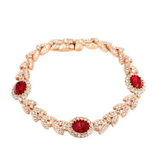 Top Quality ZYH071 Noble Fashion Crystal Rose Gold Color Bracelet Jewelry  Austrian Crystal Wholesale