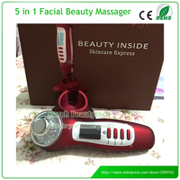 Handheld Rechargeable Galvanic Spa Deep Clease Skin Whitening Anti Acne Face Lifting Ultrasonic Photon Ion Beauty