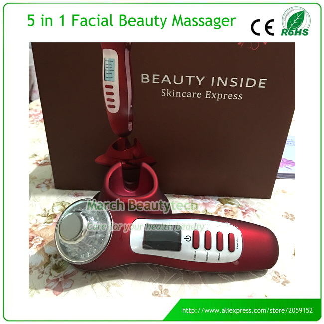 Handheld Rechargeable Galvanic Spa Deep Clease Skin Whitening Anti-acne Face Lifting Ultrasonic Photon Ion Beauty Instrument portable galvanic ultrasonic galvanic ion spa photon rejuvenation skin lightening whitening acne treatment beauty equipment