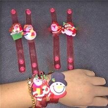 2018 1pc/lot Watch Led Glow Light Up Emitting Hand Ring Toys Wristband Bracelet Kid  Chrismas Flashing Bangle Party 1pcs lot kid watch