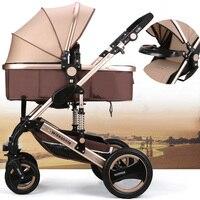 EMS детская мебель люльки детская коляска 2 в 1 коляска Лежащая или увлажняющая Складная легкая двухсторонняя детская четыре колеса