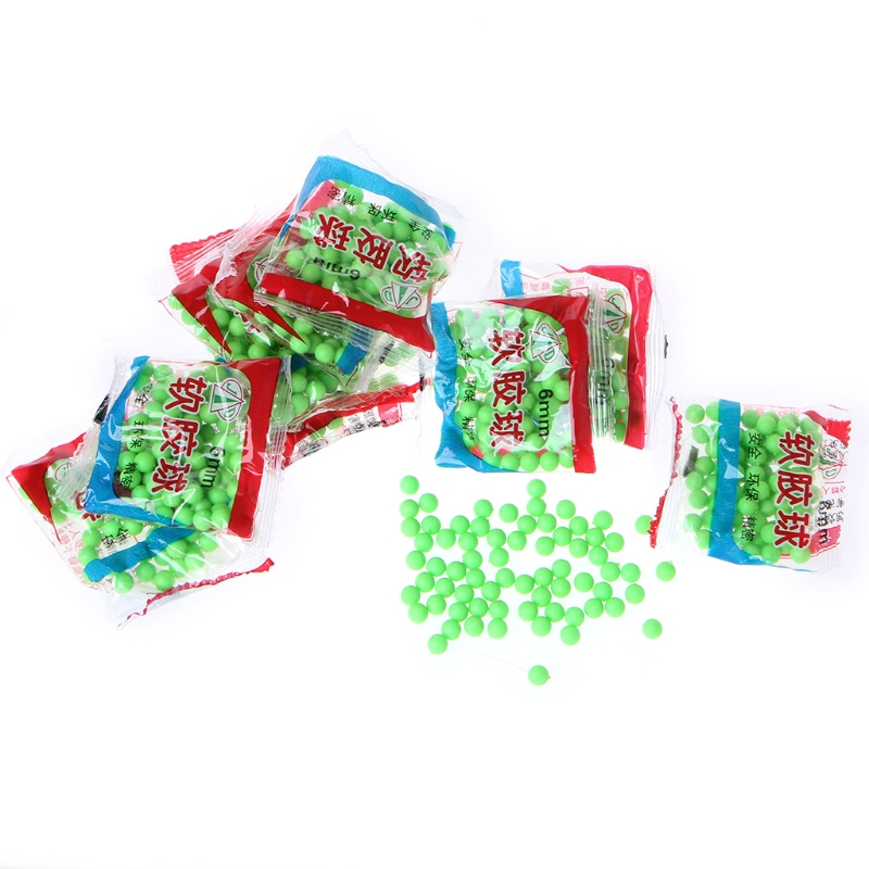800pcs/10Bags 6mm Hard Plastic ABS Bb Gun Paintball Toy Pistol Sniper Bullets Ball Kids Toy Color Random Delivery-m22