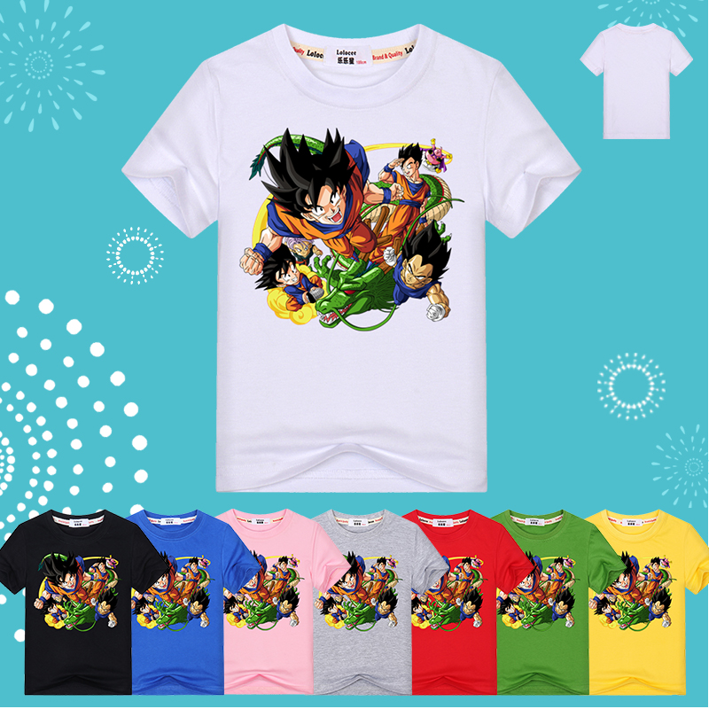 c989a90b Aliexpress.com : Buy New Dragon Ball Z T shirts Boys Summer 3D Printing  Super Saiyan Son Goku Black Dragonball Casual T Shirt Teens Tops Tee from  Reliable ...