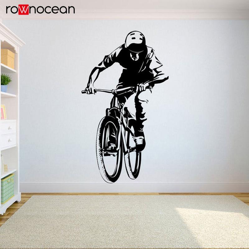 Adhesivo de pared de bicicleta Freestyle Dirt adhesivo de bicicleta para pared dormitorio deporte Dirt Bike