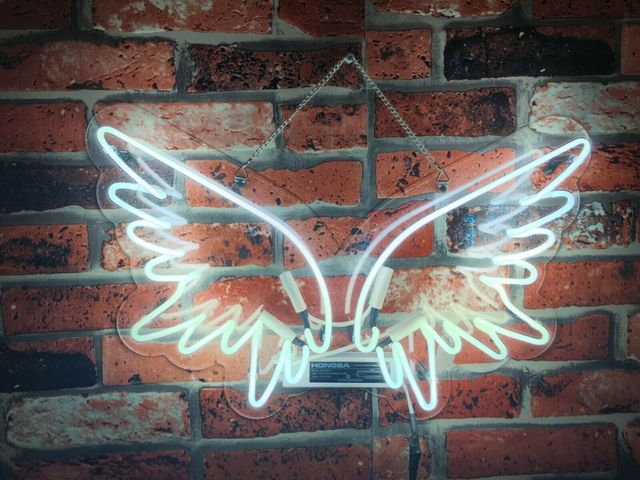 Custom Angel Wings Blue White Red Pink Deep blue Purple Turquoise Green Yellow Glass Neon Light Beer Bar 1