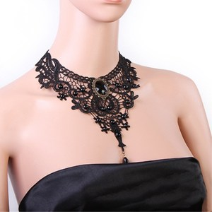 Fashion Necklace Handmade Gothic Retro Retro Lace Necklace Collar Necklace Necklace Bib Collection Jewelery Chain   8ND353