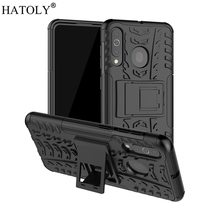For Samsung Galaxy A60 Case Rubber Silicone Armor Hard PC Phone Cover for A606F