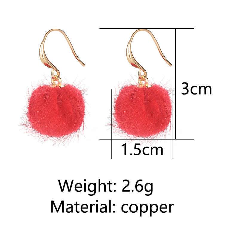 6 các loại Màu Hồng Màu Đen Đỏ Màu Xanh Lá Cây Màu Xanh Mờ Bead Dangle Bông Tai Thanh Lịch Vàng Drop Earrings Đối Với Phụ Nữ