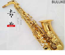 Original Alto saxophone wholesale Electrophoresis Gold Sax down E tune saxophone With accessories case Mouthpiece Free shipment