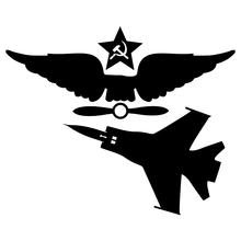 CS-390#15*18.4cm USSR Air Force and MiG-31 version 5 funny car sticker and decal silver/black vinyl auto car stickers ussr page 5 page 5