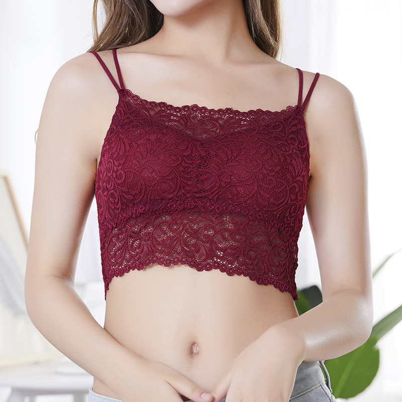 Women's Intimates Lovely Hottest Camisoles Modal Cross Harness Wrapped Women Intimates Sexy Short Tankstrap Shirt Bra With Chest Pad Tank Tube Tops