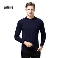Ailaile 2018 зимний теплый толстый свитер мужской бренд 100% чистый кашемировый свитер с круглым вырезом с длинным рукавом Мягкий Вязаный формальн