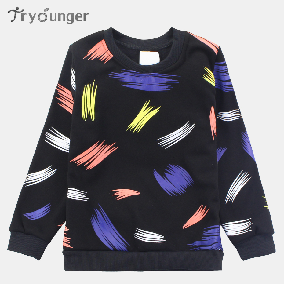 Tryounger Boys Sweatshirt Hooded Casual Boys Clothes Pullover Boys Tops Clothing Sweater Teenage Children Outwear Kids Shirts