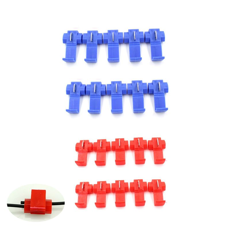 2018 New Hot 10Pcs Quick Splice Wire Cable Connector Scotch Lock Conductor Block Free Shipping&Wholesale