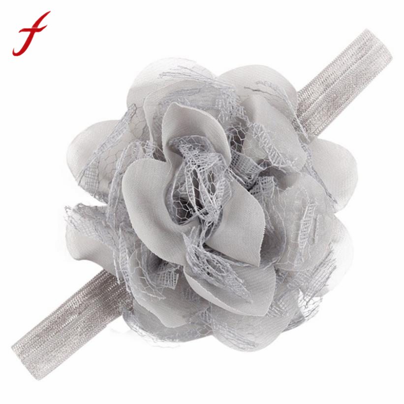 Feitong Chiffon Flower Headband Baby Girls Infant Elastic Hair Accessories for Children 11 Colors Hair Bands accessoire cheveu newborn photography props child headband baby hair accessory baby hair accessory female child hair bands infant accessories