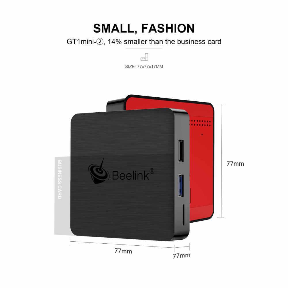 Beelink GT1mini-2 مربع التلفزيون الذكية Amlogic أندرويد 9.0 S905X3 4GB DDR4 64GB ROM صوت بعيد 2.4G + 5.8G WiFi 1000Mbps USB BT VP9