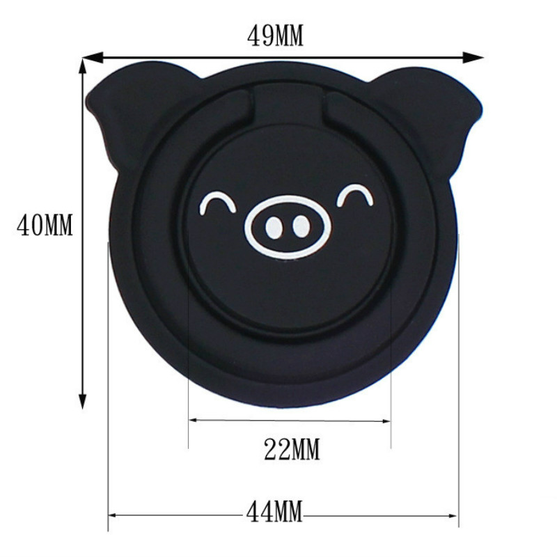 Finger Ring Mobile Phone Stand Holder For iPhone Huawei Xiaomi Desk Car Mount Support Cute Pig Cell Smartphone Hand Grip Bracket in Phone Holders Stands from Cellphones Telecommunications