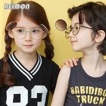 Kids Round Vintage Sunglasses Fashion Brand Designer Sun Glasses Boys&Girls Baby Suitable For Children Aged 5-12 Gradient RS528
