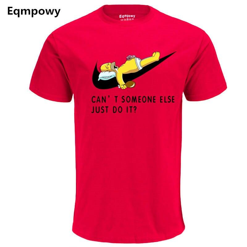 New JUST DO IT Letter Print Hip Hop T Shirt Mens Cotton Cartoon Cosplay o-neck T-shirts Summer Skateboard Tee Boy Skate Tshirt